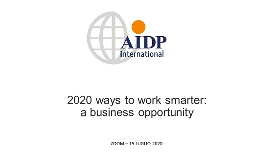 AIDP INTERNATIONAL 2020 ways to work smarter: a business opportunity