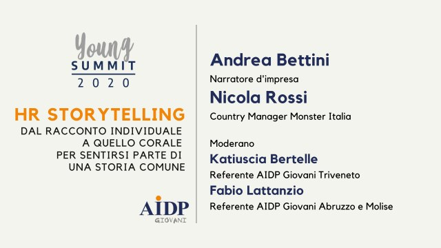 AIDP YOUNG SUMMIT 2020_HR Storytelling