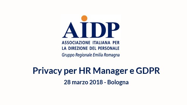 Privacy per HR Manager e GDPR